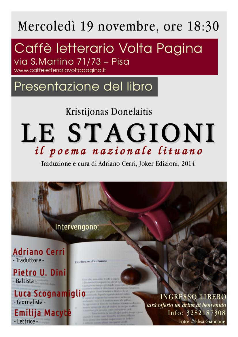 Le Stagioni_Presentazione Pisa